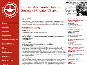 British Isles Family History Society of Greater Ottawa