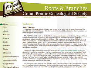 Grand Prairie Genealogical Society