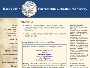 Root Cellar - Sacramento Genealogical Society