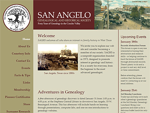 San Angelo Genealogical and Historical Society, Inc.