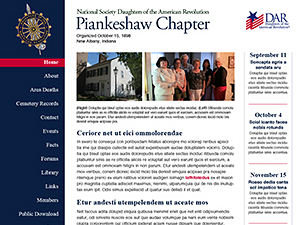 Piankeshaw Chapter NSDAR