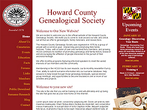 Howard County Genealogical Society, Inc.