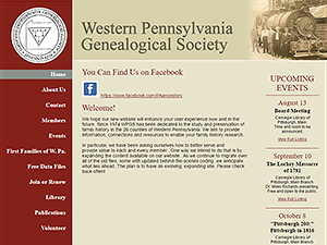Western Pennsylvania Genealogical Society