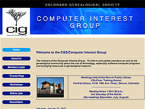 Computer Interest Group - Colorado Genealogical Society