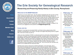 The Erie Society for Genealogical Research
