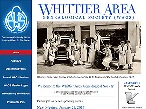 Whittier Area Genealogical Society