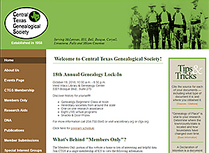 Central Texas Genealogical Society, Inc.