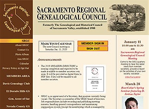 Sacramento Regional Genealogical Council